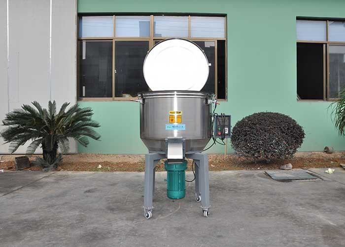 Stainless Steel Plastic Mixer Machine Weight 380kg With Wheel Low Speed 55r/Min