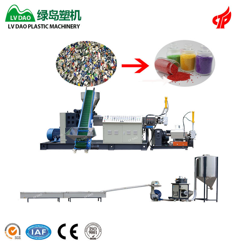 150 - 180kg/H Blue Color PP Plastic Recycling Machine Low Energy Consumption