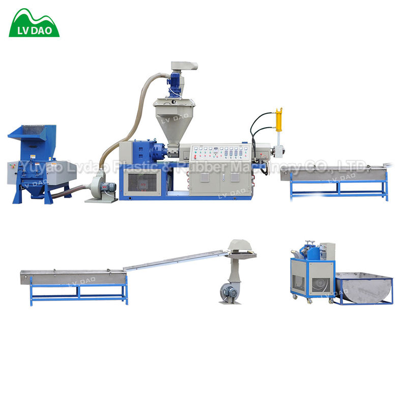 Automatic crushing PP PE wasted plastic recycling machine