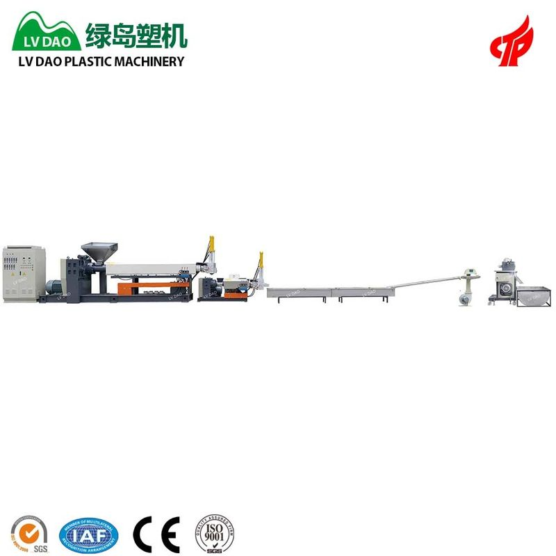 PP Waste Plastic Recycling Equipment Plastic Granules Making Machine 400 - 450kg/H Capacity